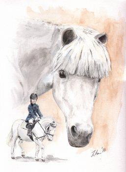 pferd mit reiter zeichnen - vorlagen zum ausmalen gratis